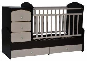 кровать-трансформер ульяна-3 (поперечный маятник+ящик, цвет: венге/клен)