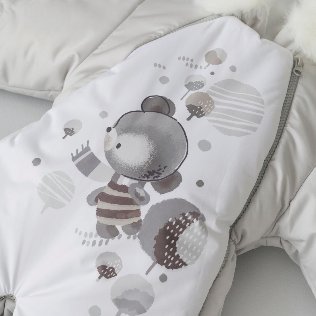 Зимняя одежда для детей Комбинезон-трансформер Акварель в ...