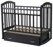 Кровать Алита 4 (поперечный маятник+ящик, цвет: венге)
