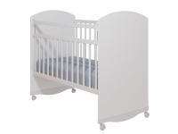 Кровать Колибри Классик-3 (колесо-качалка, цвет белый)